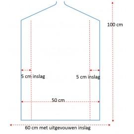 Plastic kledinghoes, 100 cm / pak 25 stuks