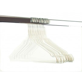Draadhanger gekleurd, wit (50 stuks)