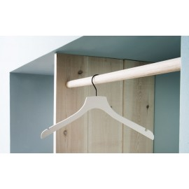 Houten kledinghanger - type L'orient - creme