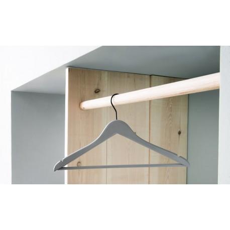 Houten kledinghanger - type Quessant - Blauw/Grijs