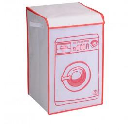 Wasmand - Wasmachine - Wit/Rood