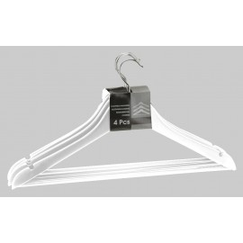 Houten kledinghanger - Set-4 WIT