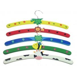 Kinderhanger - Hout 32 cm - Set 5 stuks