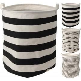 Wasmand-Wastas, polyester, met streep