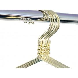 Kledinghanger goud 45 cm - 5 stuks