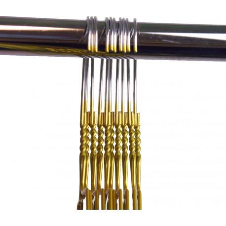 Draadhanger gekleurd, goudkleur (50 stuks)